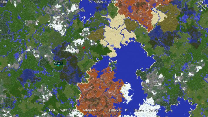 Xaeros World Map 112111110191817Forge Minecraft Mod