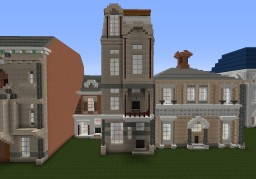 Townhouse inspired by Victor Horta Minecraft Map & Project