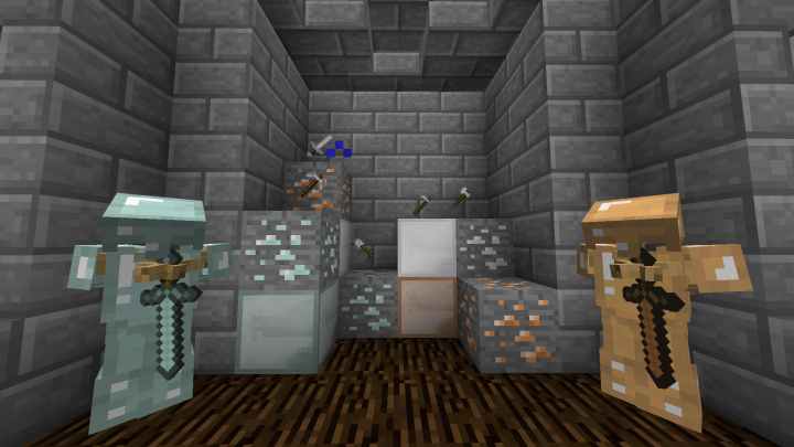 Silver, Bronze, and Compressed Diamond