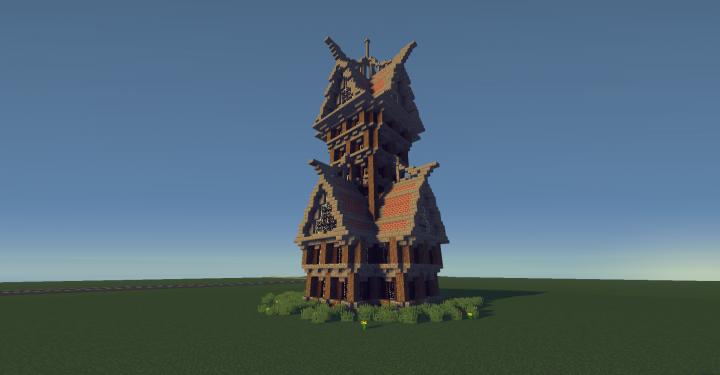 Medieval Tall Mansion Minecraft Map