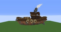 Steampunk Tugboat Minecraft Map & Project