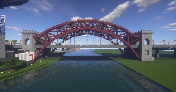 Hellsgate bridge crossing the main river.
