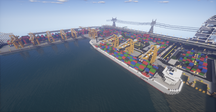 Port and an admittedly ugly cargo ship.