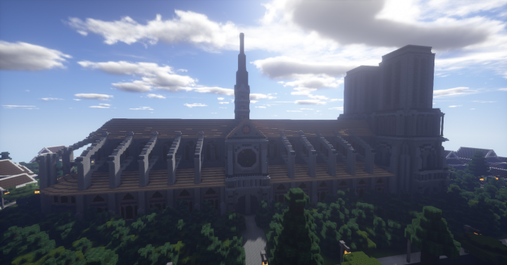 Another shot of the church, probably my favourite structure from this build.