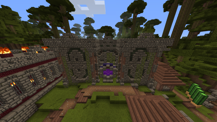 One of the smaller buildings Done in survival
