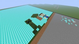 Minecraft 2D in Minecraft 3D! Minecraft Map & Project