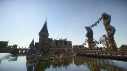 Port city of Samvia-Huge medieval project finished Minecraft Map & Project