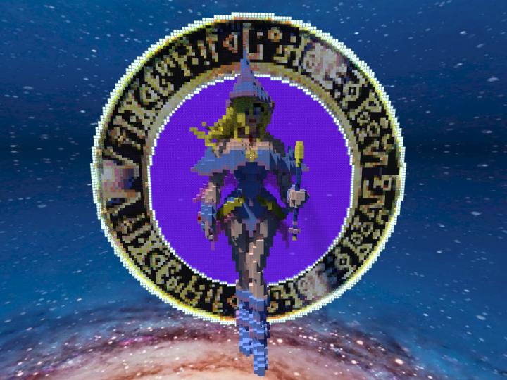 Dark Magician Girl Yu-Gi-Oh! (Better in 3D) Minecraft Skin