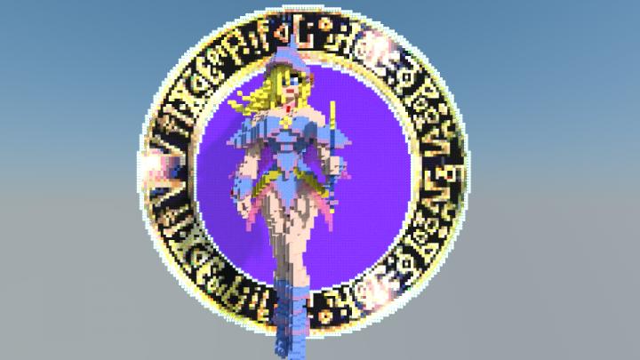 Minecraft Pixel Art Templates: Dark Wizard