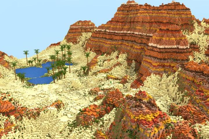 1k X 1k Terrain ┃ Mesa Biome Minecraft Project