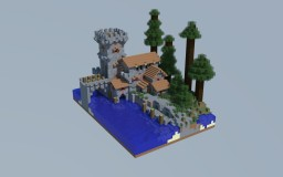 Little Realistic Medieval Barracks Minecraft Map & Project
