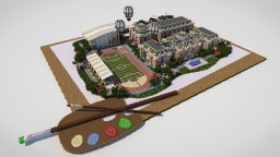 Campus in the painting Minecraft Project