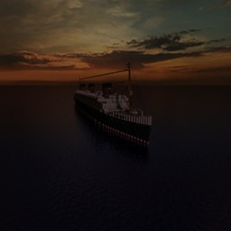 RMS Queen Victoria Minecraft Map & Project