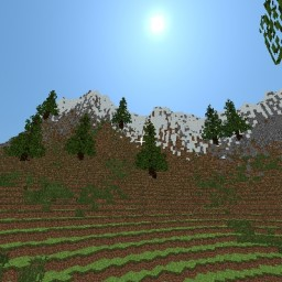 The Semi Realistic Mountains with beach Minecraft