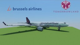 "Airbus A330-300 Brussel Airlines ""Tomorrowland 2016"" Minecraft Map & Project"