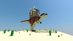 A T-REX WITH A HOUSE! Minecraft Map & Project