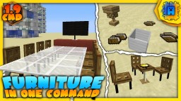 Working Furniture in one command! | Table, Chair, Lamp, ... 1.9 & 1.10 Minecraft Project