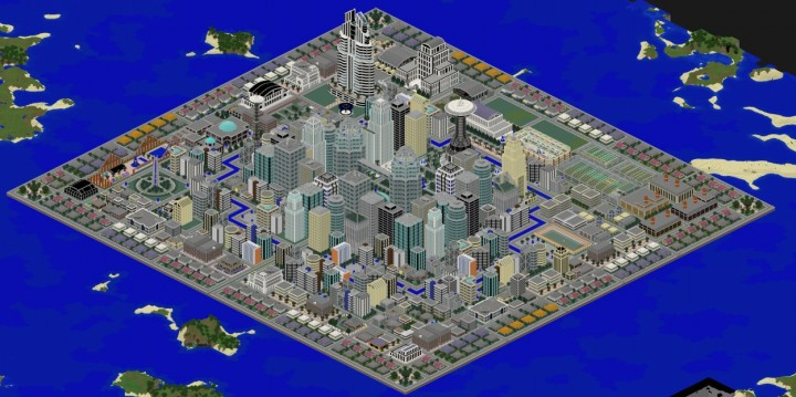 Isometric view of the city