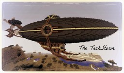 The TeckStorm - Steampunk Airship Minecraft Map & Project