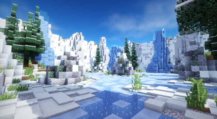 PvP Arena / Lobby] Solid Water Crystals (Download) Minecraft Project