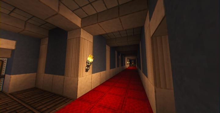 fourth floor service hallway