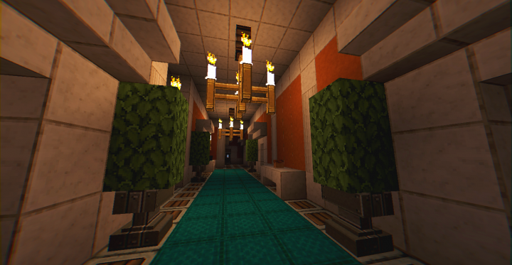 Fifth floor hallway for guest bedrooms and pool
