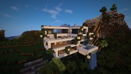 Modern Cliffside Mansion Minecraft Project