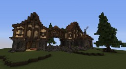 HCF Spawn Pt1 - Medieval House Minecraft Map & Project