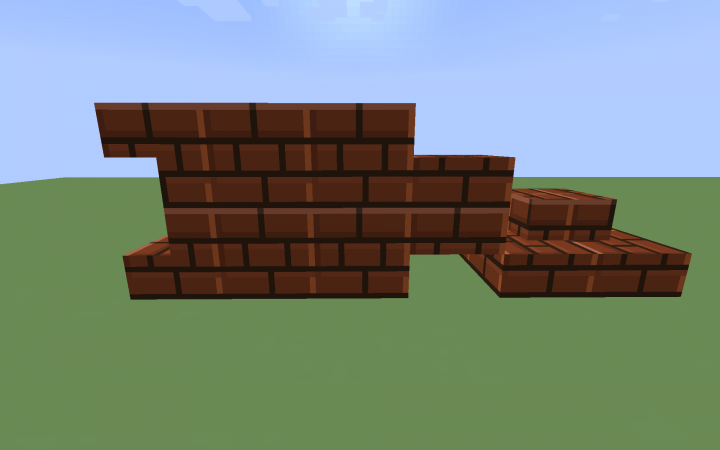 Brick, brick stairs and brick slabs