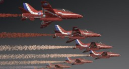 Minecraft Plane 20/1 BAE Hawk Red Arrows Minecraft