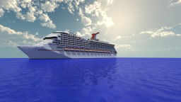 Carnival Triumph [1:1 Scale Real Cruise Ship] Exterior Only Minecraft
