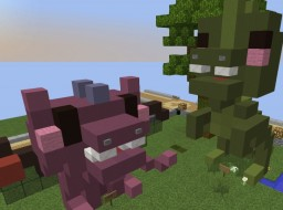 Miniature cute animal statues Minecraft Project