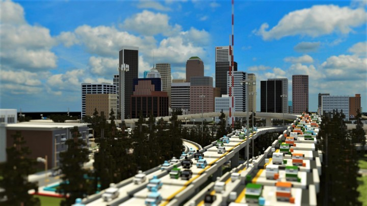 Highway Downtown View