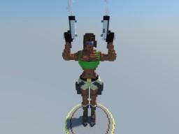 Lara Croft 3D Art Minecraft Project