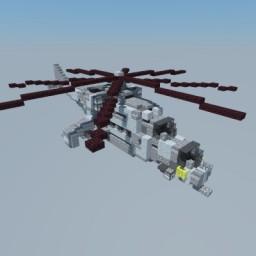 Mil Mi-24 Soviet Helicopter Minecraft Map & Project