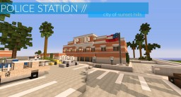 Police Station 01 // Sunset Hills Police Department Minecraft Project