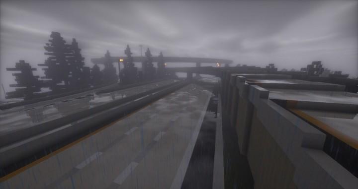 Rainy Freeway