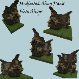 Medieval Shopes Set - 5 Shops Minecraft