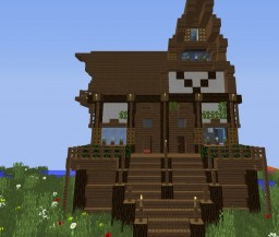 Wooden Victorian big house Minecraft Project