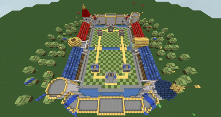 Clash Royale Royal Arena Minecraft Project
