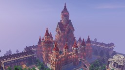 Castle of the Heroes - A granite fantasy castle Minecraft Map & Project