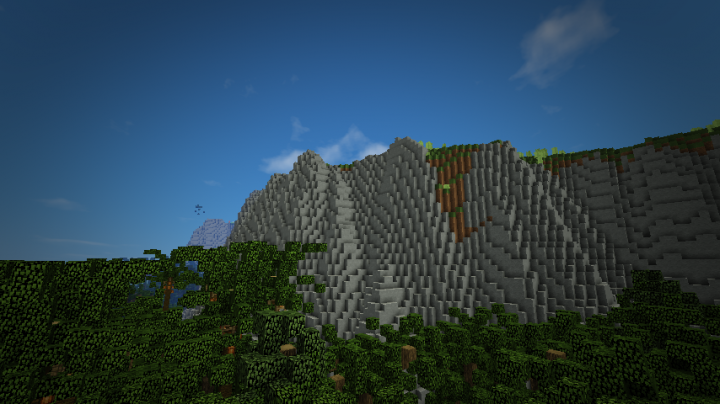 The sheer cliffs, where the Trailers are pushed over by the Tyrannosaurs