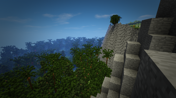 Trees lead right up to the cliffs
