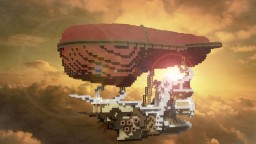 Steampunk Airship | 100 Follower Special Minecraft Map & Project