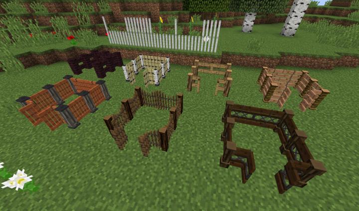 Wooden Fences and Gates, Netherbrick Fence, Iron Bars