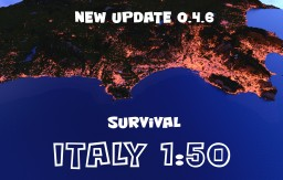 Italy 0.4.6 [Scale 1:50] Survival! [1.7+] Minecraft Map & Project