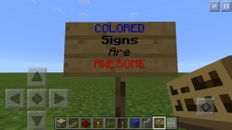 How to make COLORED signs on ANY platform [Java edition needs mod] Minecraft Blog Post