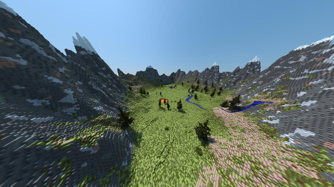 500x500 Mountain Terrain Minecraft Project