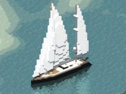 Antares Luxury Sailing Yacht Minecraft