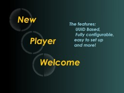 New Player Welcome [1.13-1.9.X] Minecraft Mod